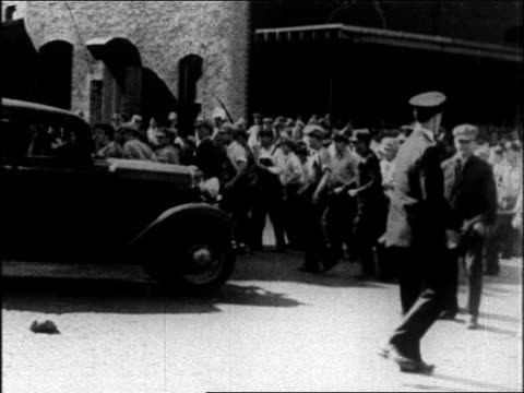 B/W 1937 police + labor strikers hitting each other with clubs