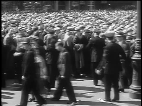 B/W 1933 police large crowd at Communist demonstraton / Union Square NYC