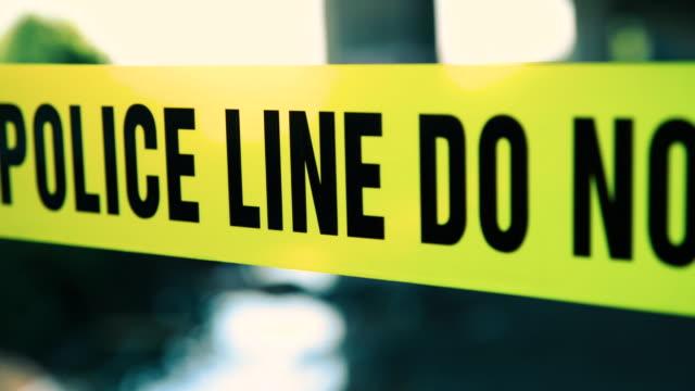 police line do not cross cordon tape - barricade stock videos & royalty-free footage