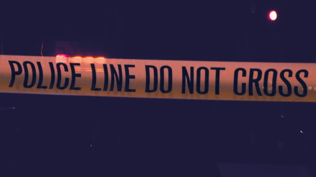 stockvideo's en b-roll-footage met politie lijn overschrijden geen - afzetlint