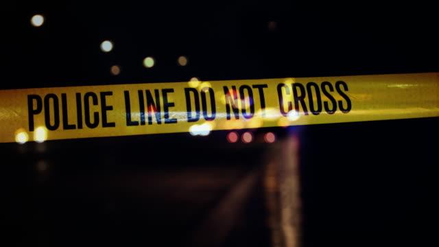 stockvideo's en b-roll-footage met politie lijn niet oversteken - afzetlint