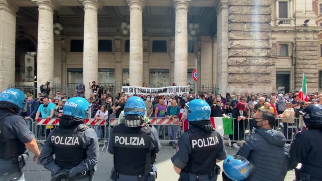 ITA: Protests And Police Clashes As Italy Slowly Exits Coronavirus Pandemic Lockdown