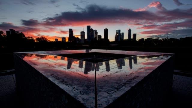Police Memorial at sunrise in Houston, TX