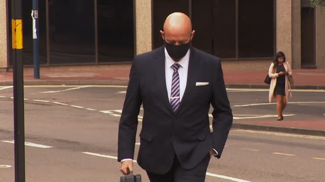 police officer benjamin monk arriving at court for the manslaughter trial of footballer dalian atkinson - defendant stock videos & royalty-free footage