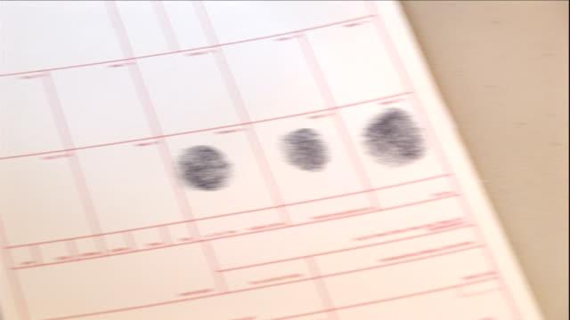 a police officer fingerprints a crime suspect. - suspicion stock videos & royalty-free footage