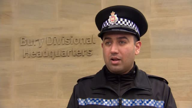 police officer mohammed nadeem hailed a hero after saving drowning man; greater manchester: bury: ext pc mohammed nadeem interview sot/ reporter to... - desktop pc stock videos & royalty-free footage