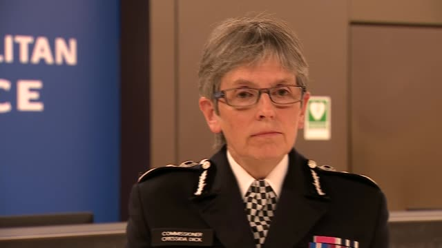 police officer shot dead by suspect at croydon custody centre: cressida dick statement; england: london: croydon: int cressida dick statement to... - police statement stock videos & royalty-free footage