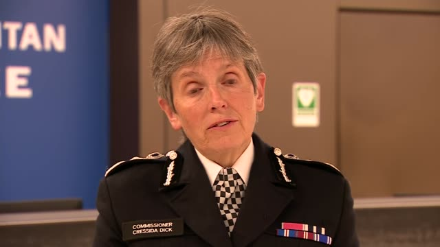 police officer shot dead by suspect at croydon custody centre: cressida dick statement; england: london: croydon: int cressida dick answering... - police statement stock videos & royalty-free footage