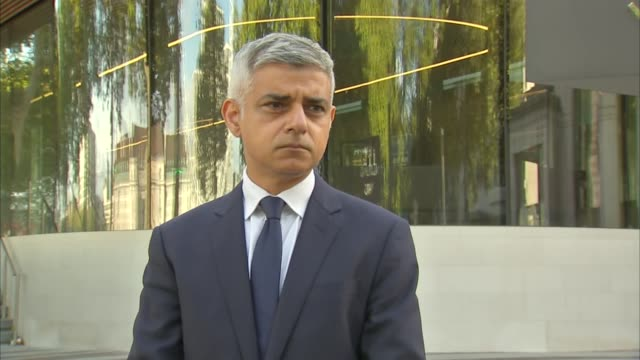 police officer shot dead by suspect at croydon custody centre: sadiq khan statement; england: london: new scotland yard: ext sadiq khan leaving... - civilian stock videos & royalty-free footage