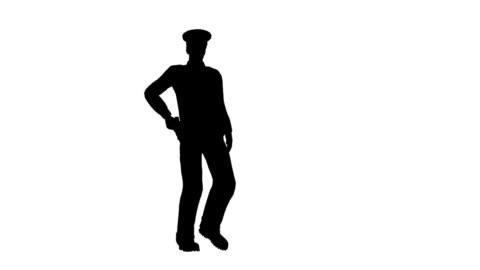 police officer - silhuett bildbanksvideor och videomaterial från bakom kulisserna