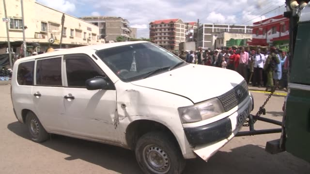 police officers in nairobi on thursday confiscated a car believed to have been used to ferry bombs in the citys pangani area less than a kilometre... - kilometre stock videos & royalty-free footage