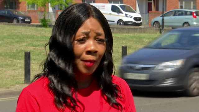 22 police officers injured in violent clash at illegal street party in brixton england london brixton angell town ext pastor lorraine jones interview... - war and conflict stock-videos und b-roll-filmmaterial