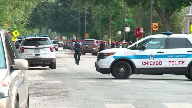 WGN Police officers on scene after shooting at S State St W 116th St in Chicago on July 4 2017 Over 100 hundred people were shot 15 fatally in...