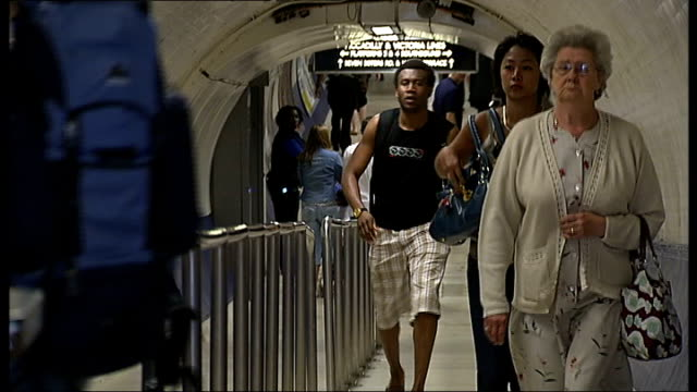 police officers patrol london underground network/ boris johnson photocall england london finsbury park underground station int 'finsbury park'... - victoria park london stock videos & royalty-free footage
