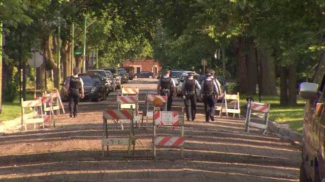WGN Police Officers Walking Around Chicago's Englewood Neighborhood on July 6 2015