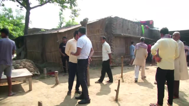 police officials investigating the firing case in durjanpur village ballia uttar pradesh on october 17 2020 visuals are from outside the house of the... - uttar pradesh stock videos & royalty-free footage