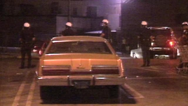 police on street during la riots on april 29 1992 in los angeles california - 1992 stock videos and b-roll footage