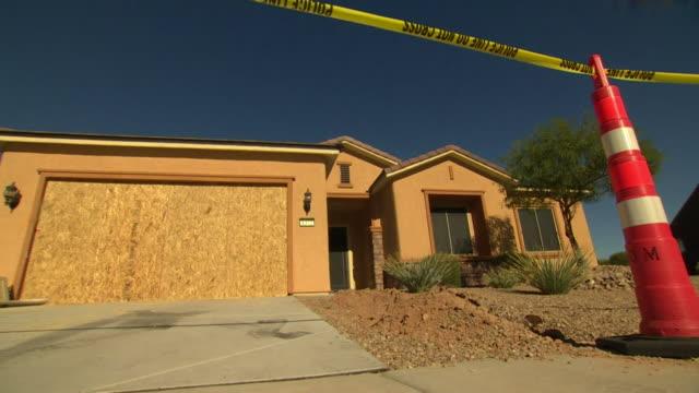 Police outside the home of Las Vegas shooter Stephen Paddock
