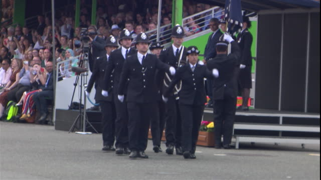 police passing out parade at hendon police college - passing out parade stock videos & royalty-free footage