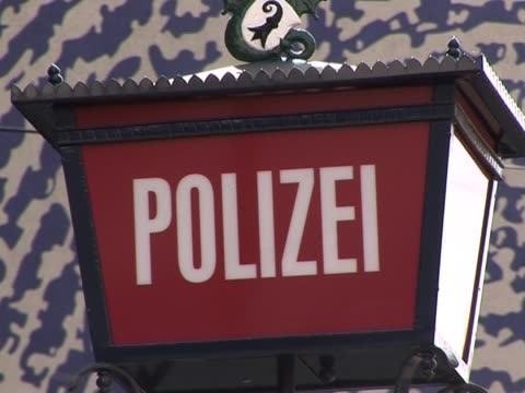 police / polizei sign - polizei stock videos and b-roll footage