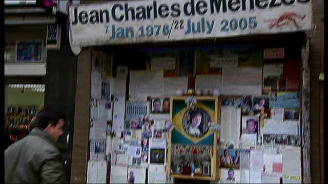 police radio system operational across all london underground stations date memorial shrine to jean charles de menezes at stockwell tube station - stockwell stock videos and b-roll footage