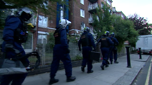 A police raid taking place in London