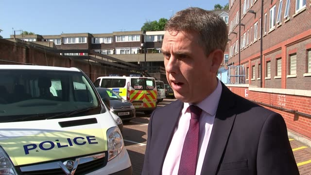 Police release CCTV of attack on delivery driver sat in a parked car ENGLAND London EXT Detective Inspector Andy Port interview SOT