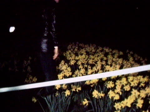 police search flower beds in st james park following the attempted kidnap of princess anne. 1974. - 誘拐事件点の映像素材/bロール