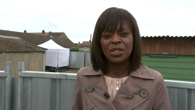 police search garages in hunt for body of murdered schoolgirl danielle jones thurrock tilbury reporter to camera steve worron interview sot - thurrock stock videos and b-roll footage