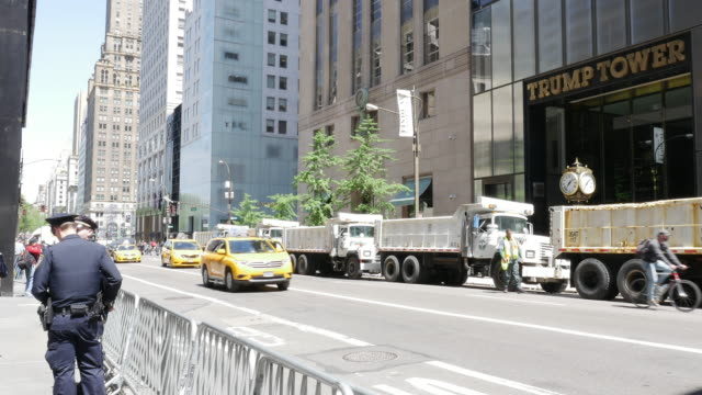 NYPD Police securing Trump Tower in New York City