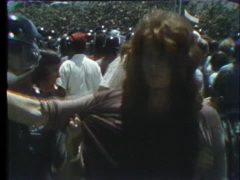 police separate and arrest pro and anti richard nixon demonstrators at the republican national convention in miami beach, florida. - 1972 stock videos & royalty-free footage