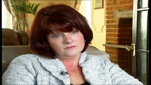 widow speaks out about death of robert haines challock int gill haines interview sot hard question to answer / if i was an outsider looking in i... - widow stock videos & royalty-free footage