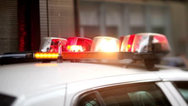 警察のサイレンニューヨークで - パトカー点の映像素材/bロール