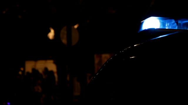 Police siren in  the night
