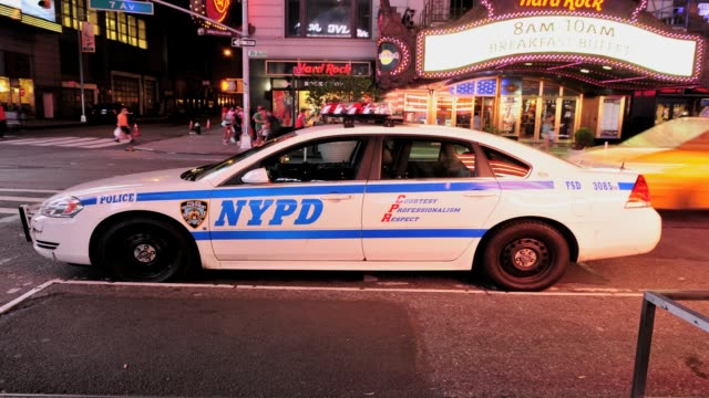 police squad car times square new york city usa time lapse nypd police times square on july 09 2013 in new york city new york - 2013 stock videos & royalty-free footage