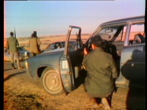 stockvideo's en b-roll-footage met police stake out an area in wounded knee, south dakota, on day ten of the indian takeover. - 1973