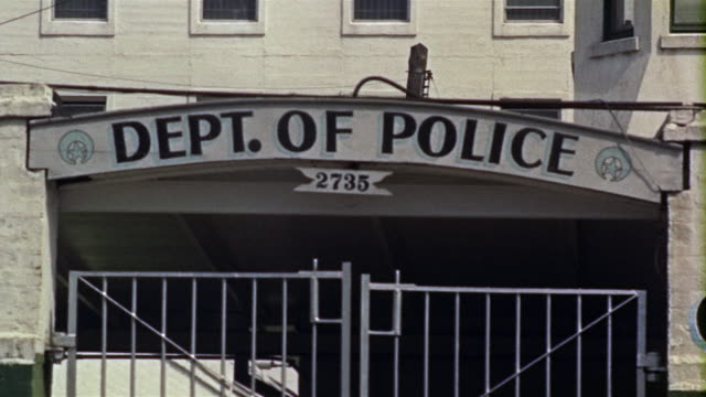 1959 cu police station and bureau of correction exterior, new orleans, louisiana, usa - police station stock videos & royalty-free footage