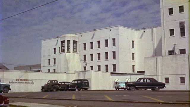 1959 WS Police station exterior, New Orleans, Louisiana, USA