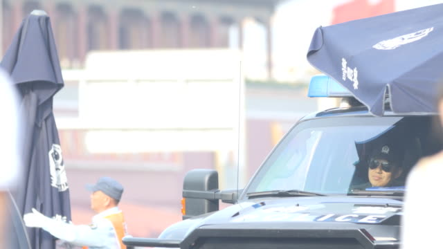 Police surveillance in Tiananmen Square, Beijing China