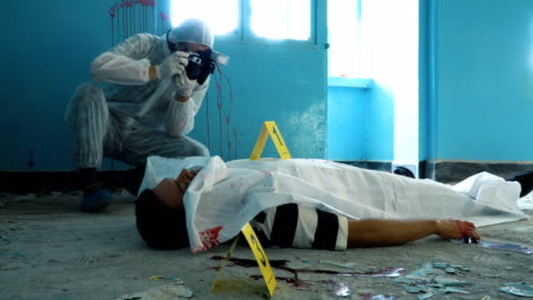 police taking pictures in crime scene - gory of dead people stock videos & royalty-free footage