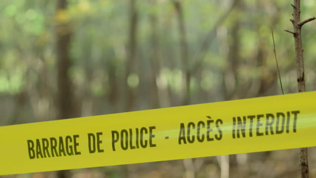 police tape at crime scene - french language stock videos & royalty-free footage