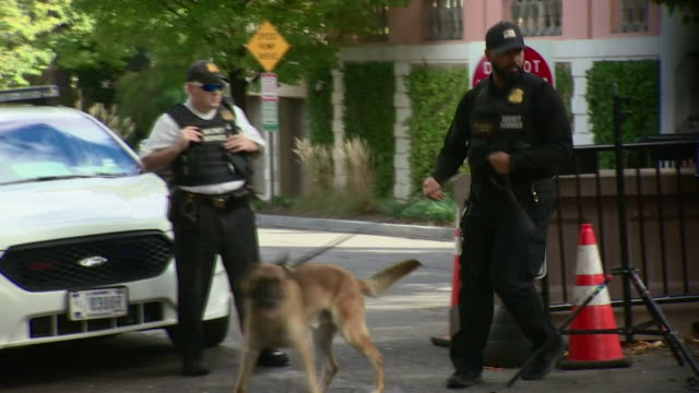 police units at the washington dc home of barack obama and the cnn offices in new york after suspicious packages were delivered to both - cnn stock videos & royalty-free footage