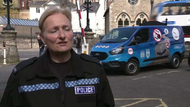Police unveil new technology to combat drivers illegally using mobile phones ENGLAND EXT Liz Johnson interview SOT Road sign of mobile phone lighting...