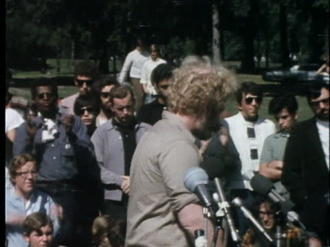 police use smoke and fog to control the crowd at a rally near the 1968 democratic national convention in chicago; demonstrators march and wait;... - united states and (politics or government) stock videos & royalty-free footage