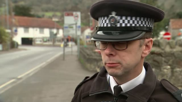 police warn against dangers of new craze of drift triking; inspector andy pritchard interview sot road passing through the cheddar gorge goat grazing... - cheddar gorge stock videos & royalty-free footage