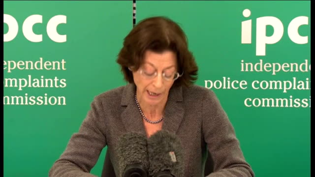 police watchdog says scotland yard showed 'poor judgement' in hiring neil wallis london deborah glass press conference sot despite the growing phone... - conference phone stock videos & royalty-free footage