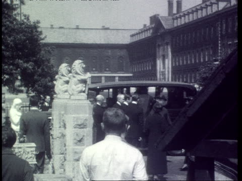 policeman patrolling chelsea flower show / king edward viii walking with a group prince arthur duke of connaught walking through the gardens - chelsea flower show stock videos & royalty-free footage