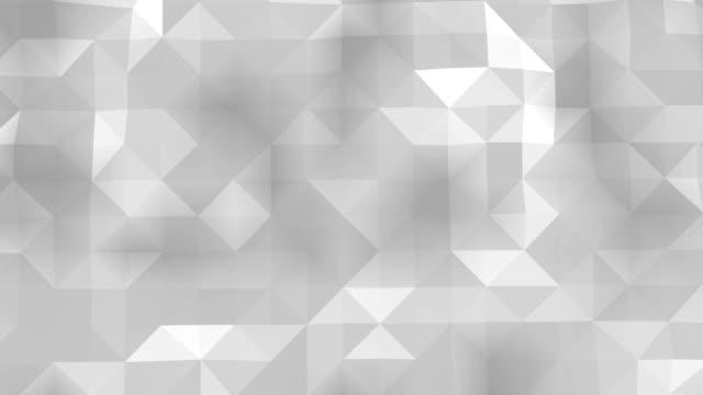 poligonal geometrik yüzey sorunsuz döngü - prism stock videos & royalty-free footage