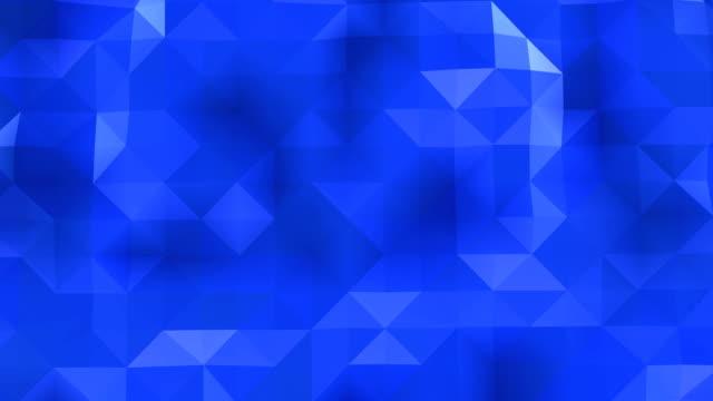 poligonal geometrik yüzey sorunsuz döngü - triangle shape stock videos & royalty-free footage