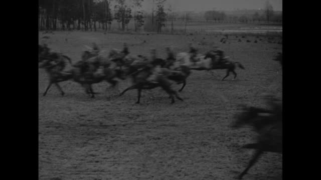vs polish cavalry charging across field / explosion going off near camera / soldiers getting into tanks / tanks rolling forward / motorcycles jeeps... - cavalry stock videos & royalty-free footage